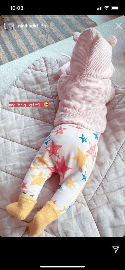 gigi's baby khai at five months