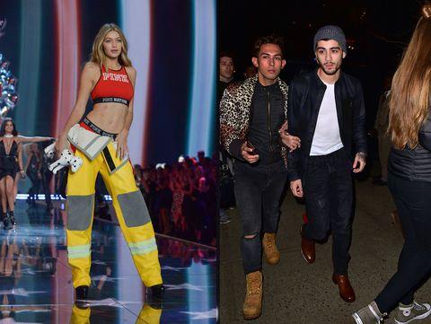 gigi2015 victoria's secret fashion show   runway zayn:celebrity sightings in new york city   november 11, 2015