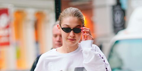 Eyewear, Sunglasses, Hair, White, Glasses, Street fashion, Orange, Fashion, Hairstyle, Vision care,