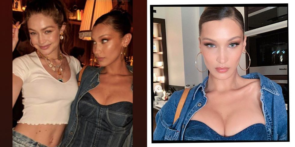38518cb05d The A-list Turned Out In Double Denim For Gigi Hadid s Britney And  Justin-Theme Birthday Party