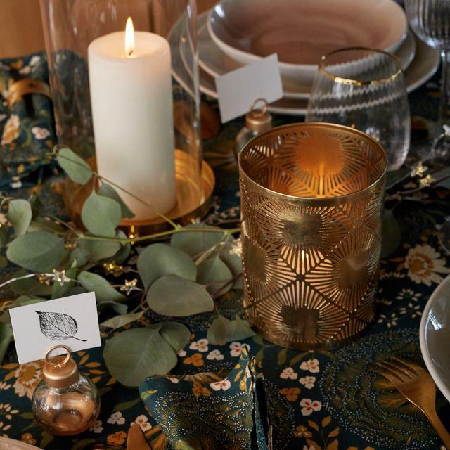 ideas regalos navidad, en verde y oro