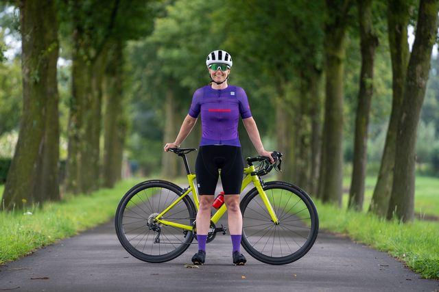 sportful evo w fietsshirt en total comfort w fietsbroek