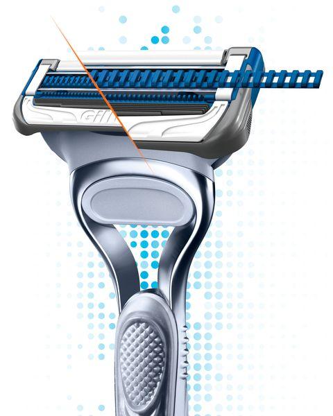 la banda protectora de la máquina de afeitar gillette skinguard, para piel sensible