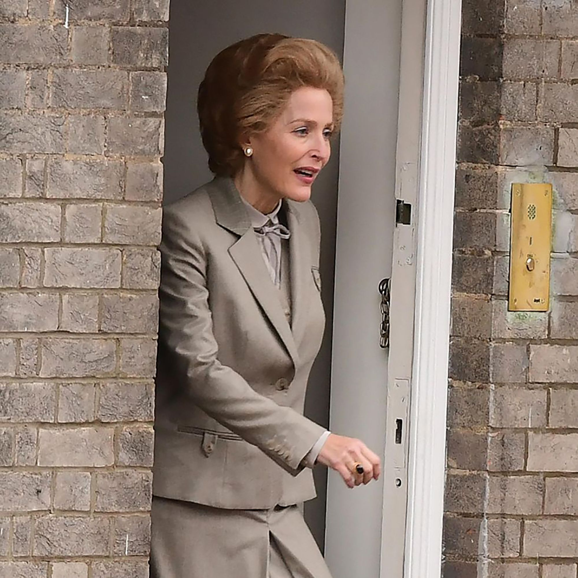 The Crown's Gillian Anderson looks eerily like Margaret Thatcher in season 4 set pictures