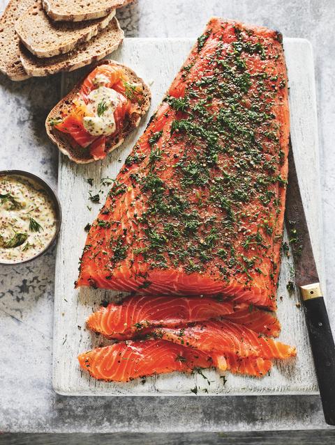 Gin And Juniper Cured Salmon Recipe Scandinavian Gravlax