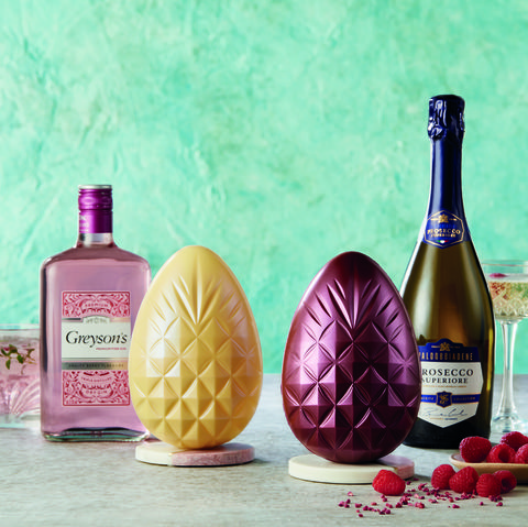 Aldi gin and prosecco infused Easter eggs