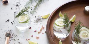 Gin Cocktail with garnish