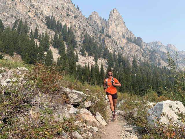 gina lucrezi running on the trail