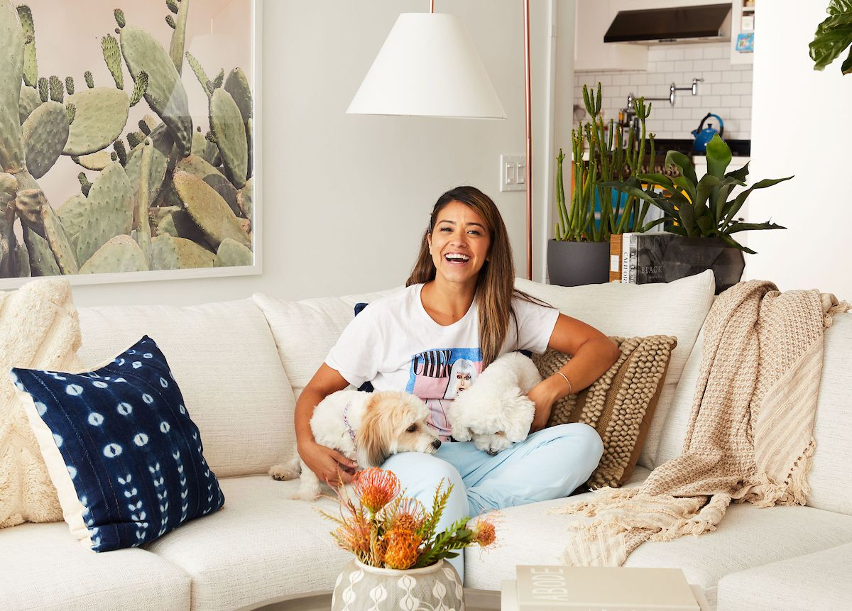Gina Rodriguez's New Living Room Redefines California Cool