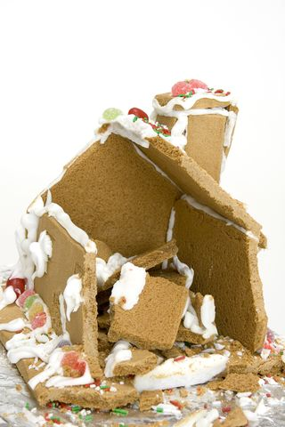 ginger bread house remains
