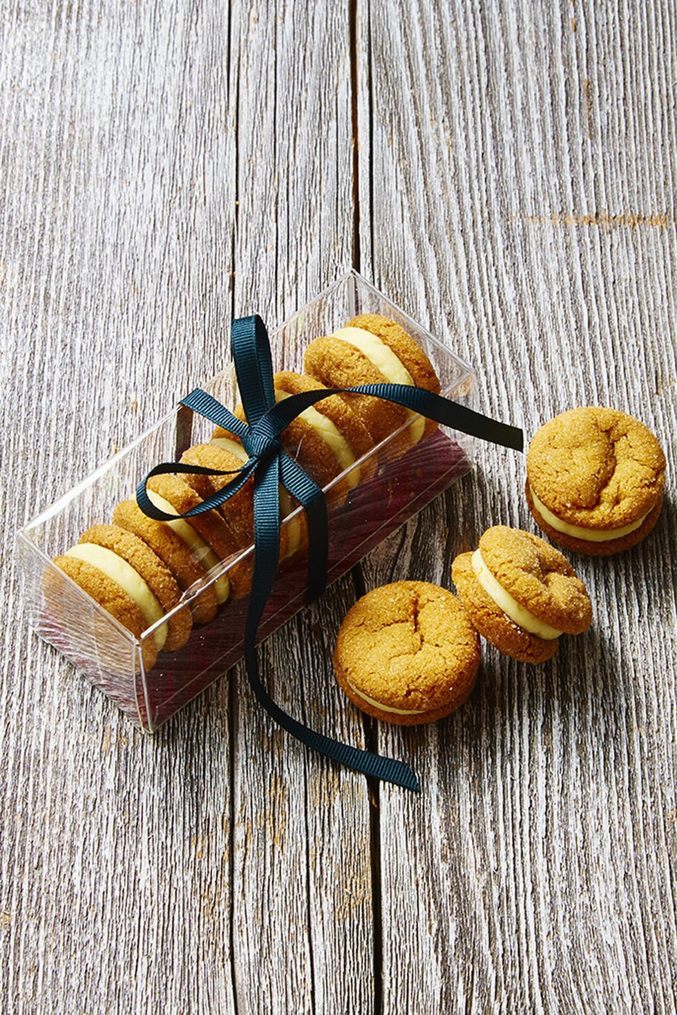 Homemade Food gifts ginger and cream sandwich cookies