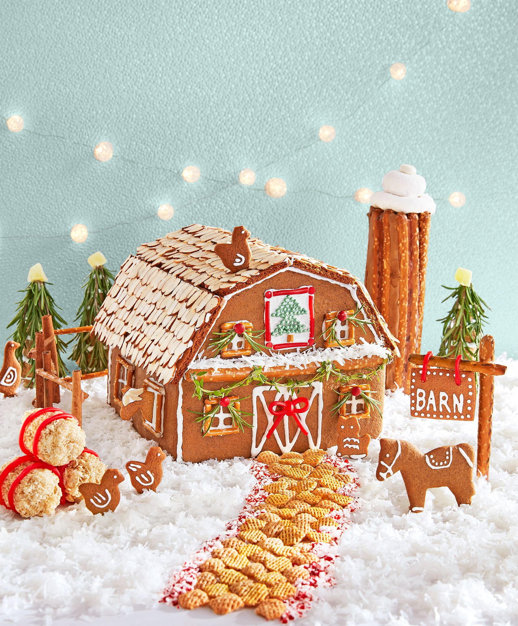 How To Make A Gingerbread Barn For Christmas