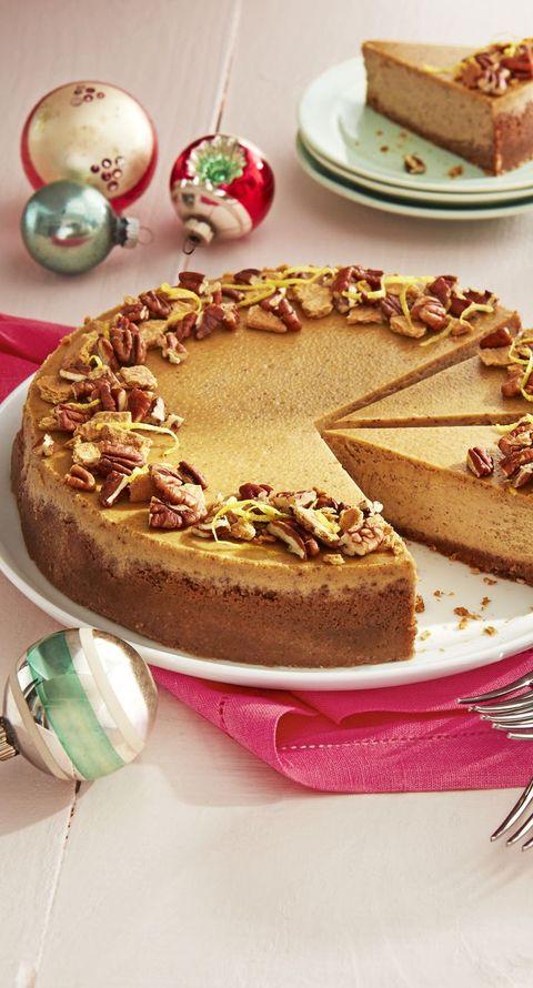 gingerbread cheesecake pecan graham crust