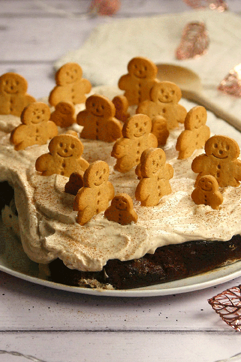 gingerbread latte loaf cake - Christmas Cake Decoration Ideas