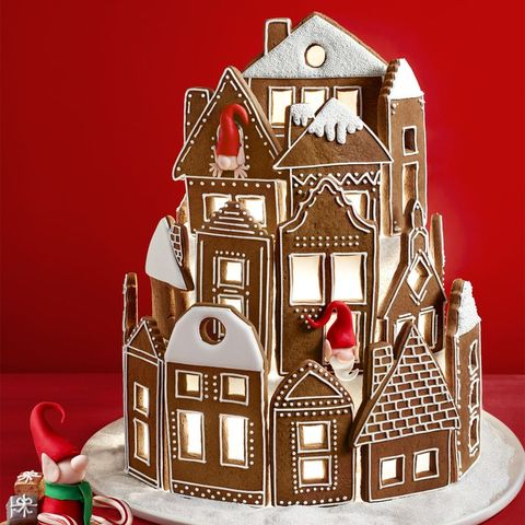gingerbread house decorations village