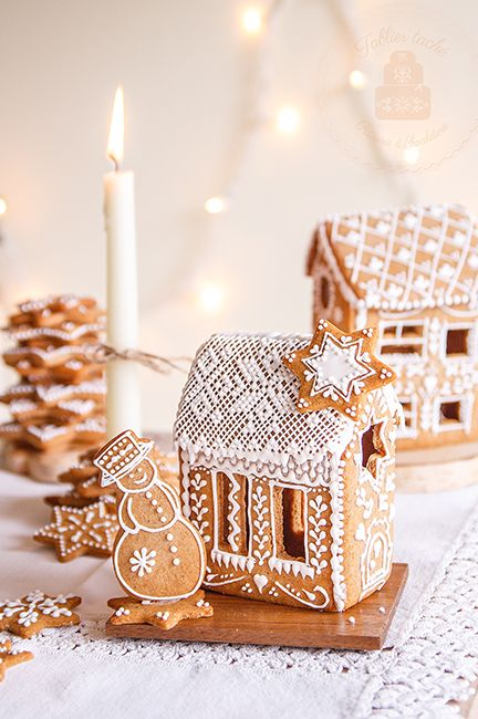 gingerbread house ideas lace