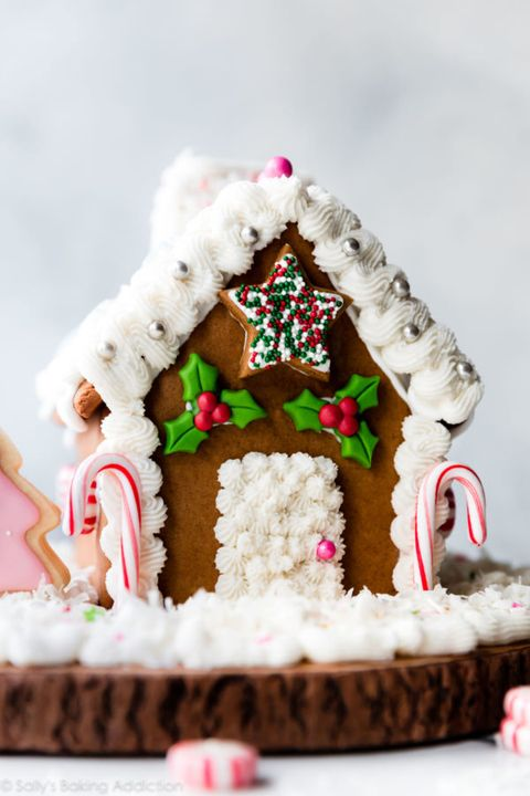 gingerbread house ideas snowy roof