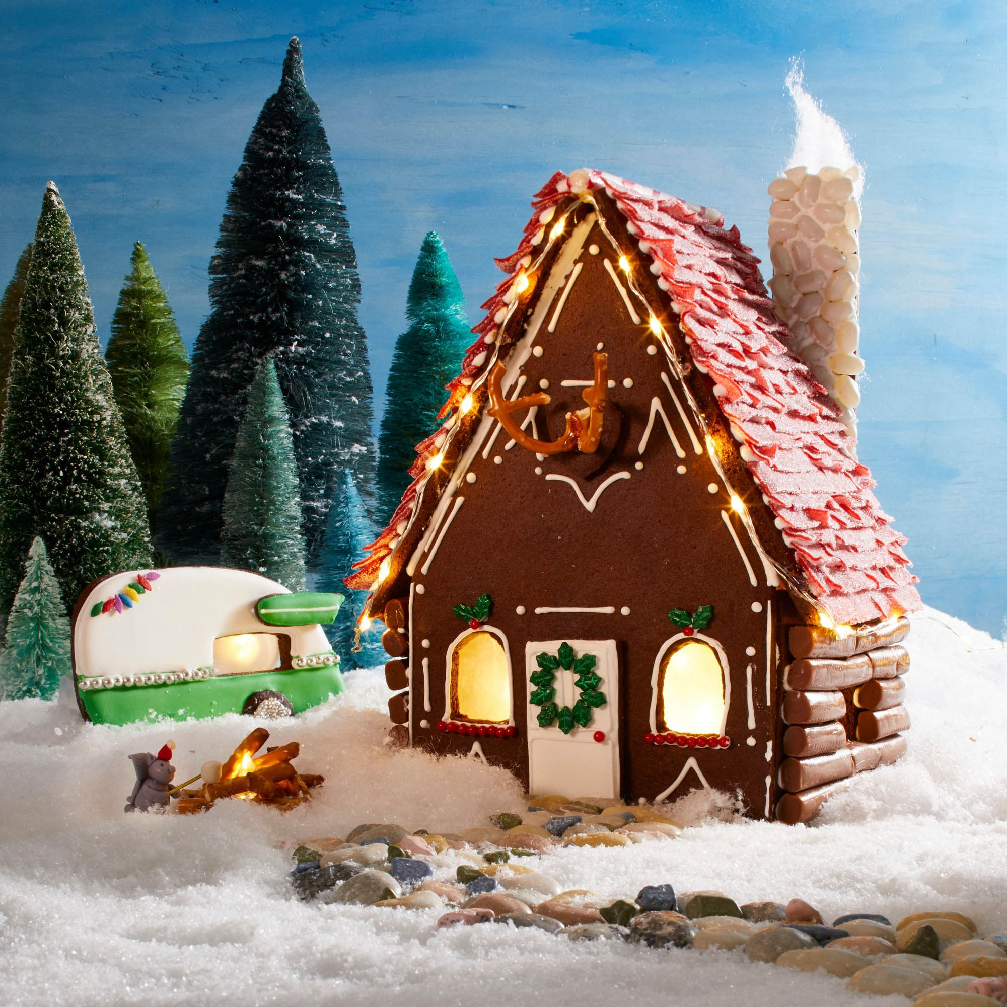Build the Ultimate Rustic Gingerbread House With These Easy-to-Follow Stencils