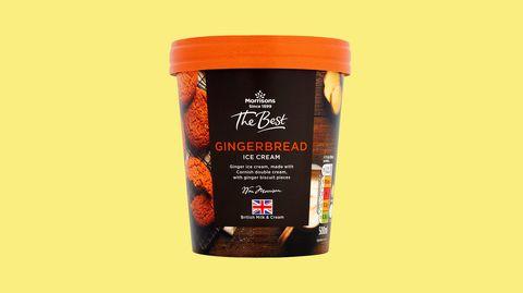 Morrisons gingerbread ice cream