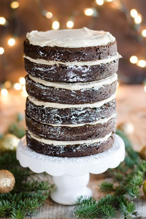 gingerbread layer cake with cinnamon cream cheese frosting