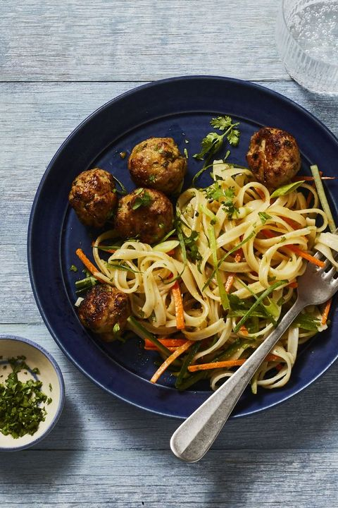 gingery pork meatballs