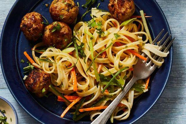 gingery pork meatballs
