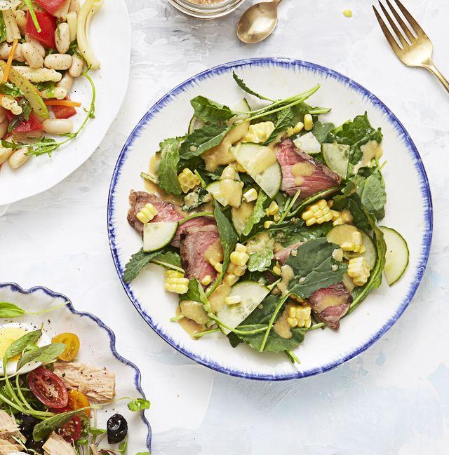 gingery steak and corn salad