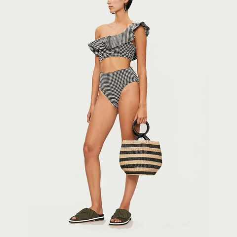 swimwear UK - gingham bikini