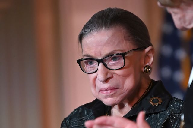 washington, dc   february 14 supreme court justice ruth bader ginsburg is seen as she presents the justice ruth bader ginsburg inaugural woman of leadership award to agnes gund at the library of congress on february 14, 2020 in washington, dc photo by shannon finneygetty images
