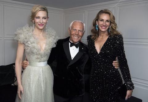 ジョルジオ・アルマーニ、ジュリア・ロバーツ、ケイト・ブランシェット(Giorgio Armani with Julia Roberts and Cate Blanchett)