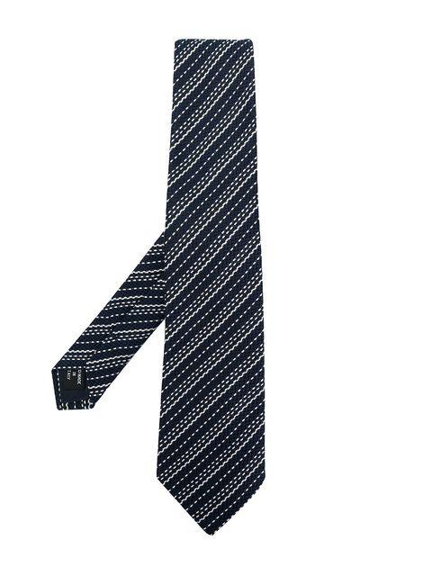Tie, White, Black, Font, Fashion accessory, Pattern,
