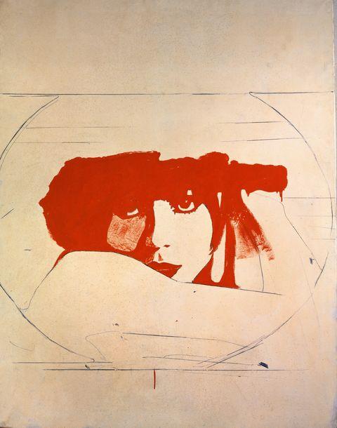 Red, Art, Illustration, Visual arts, Drawing, Graphic design, Painting, Modern art,