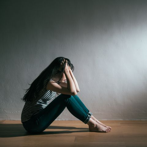 girl having trouble and getting depression illness