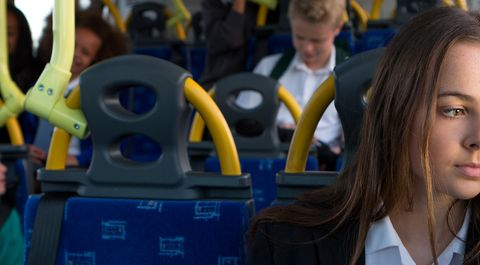 The way this boy reacted when a young girl started her period on the bus will warm your heart