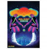 Marijuana strain poster Girl Scout Cookies from Califari