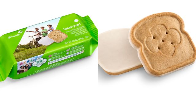 girl scouts toast yay cookie