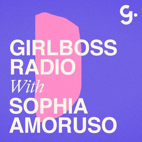 Logo van Girlboss Radio, de podcast van Sophia Amoruso