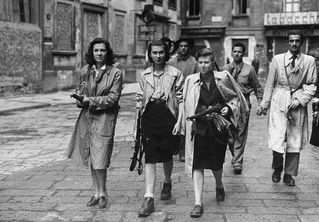 italian partisans associated with the partito d'azione during the liberation of milan   photo by keystonegetty images