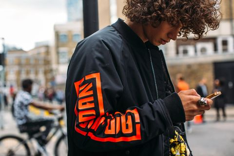 Street fashion, Hairstyle, Human, Photography, Jacket, T-shirt,