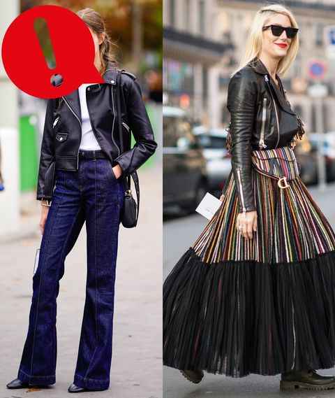 La giacca di pelle, così come il giubbotto di pelle pesante e oversize sono due capispalla iconici che non mancano di rimarcare il tuo lato grintoso e rock, prendi nota degli abbinamenti anti Fashion Disaster.