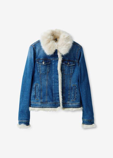 huge discount c1cc7 d6f16 Il giubbotto di jeans con pelliccia è la tendenza del 2019