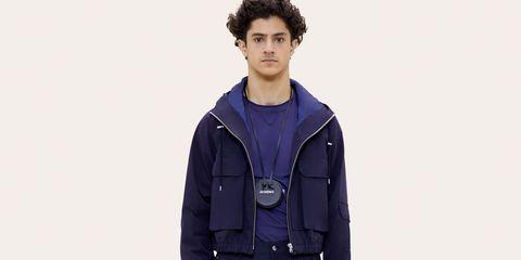 Clothing, Jacket, Outerwear, Standing, Sleeve, Hood, Coat, Fashion, Neck, Human,