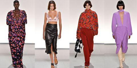 Fashion model, Fashion, Clothing, Runway, Fashion show, Shoulder, Footwear, Fashion design, Waist, Trousers,