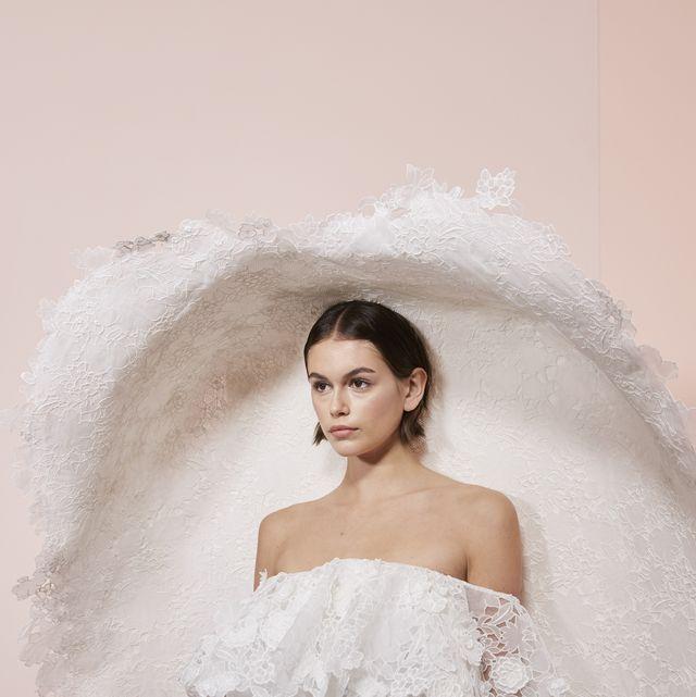 Wedding dress, Gown, Dress, Bride, Clothing, Bridal accessory, Bridal clothing, Photograph, Shoulder, Bridal party dress,