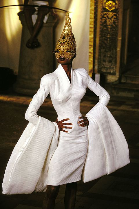 White, Clothing, Fashion, Dress, Gown, Tradition, Headpiece, Costume, Fashion design, Wedding dress,