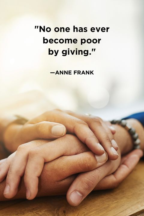 Giving QuotesAnne Frank