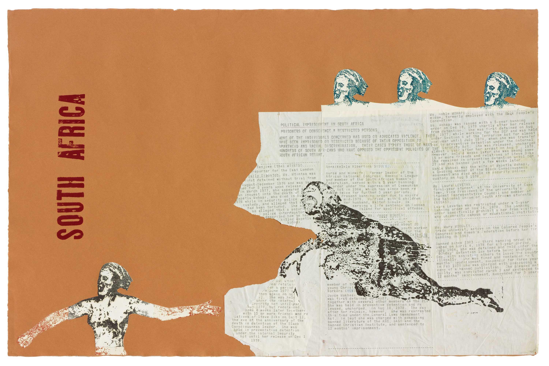 Nancy Spero, 'South Africa', 1981