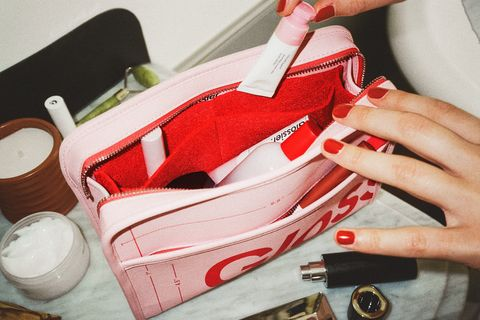 glossier beauty bag