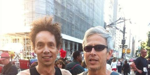 Malcolm Gladwell after running the Fifth Avenue Mile