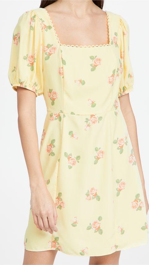 glamorous 花朵洋裝